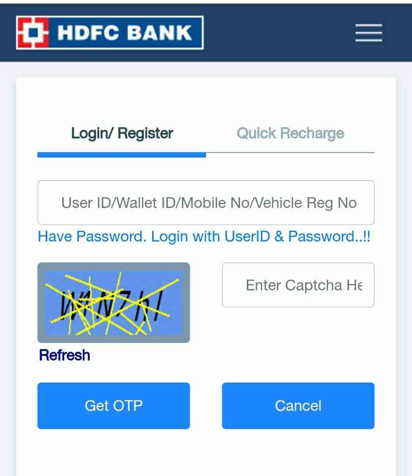 Hdfc Fastag Recharge Kaise Kare