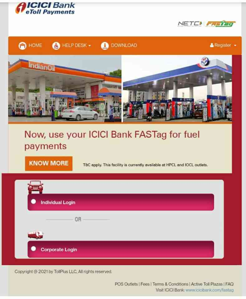 Icici Fastag recharge kaise kare